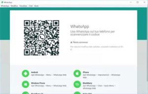 Whatsapp sul pc qrcode