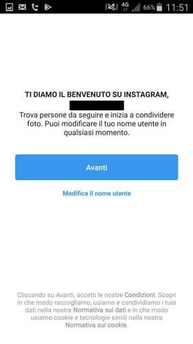 Bevenuto su instagram