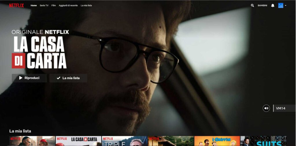 Netflix - pagina iniziale