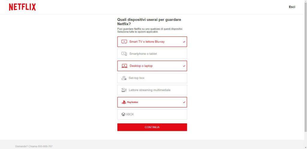 Netflix - scelta dispositivi