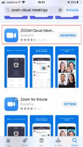 installazione zoom cloud meeting su iphone e ipad