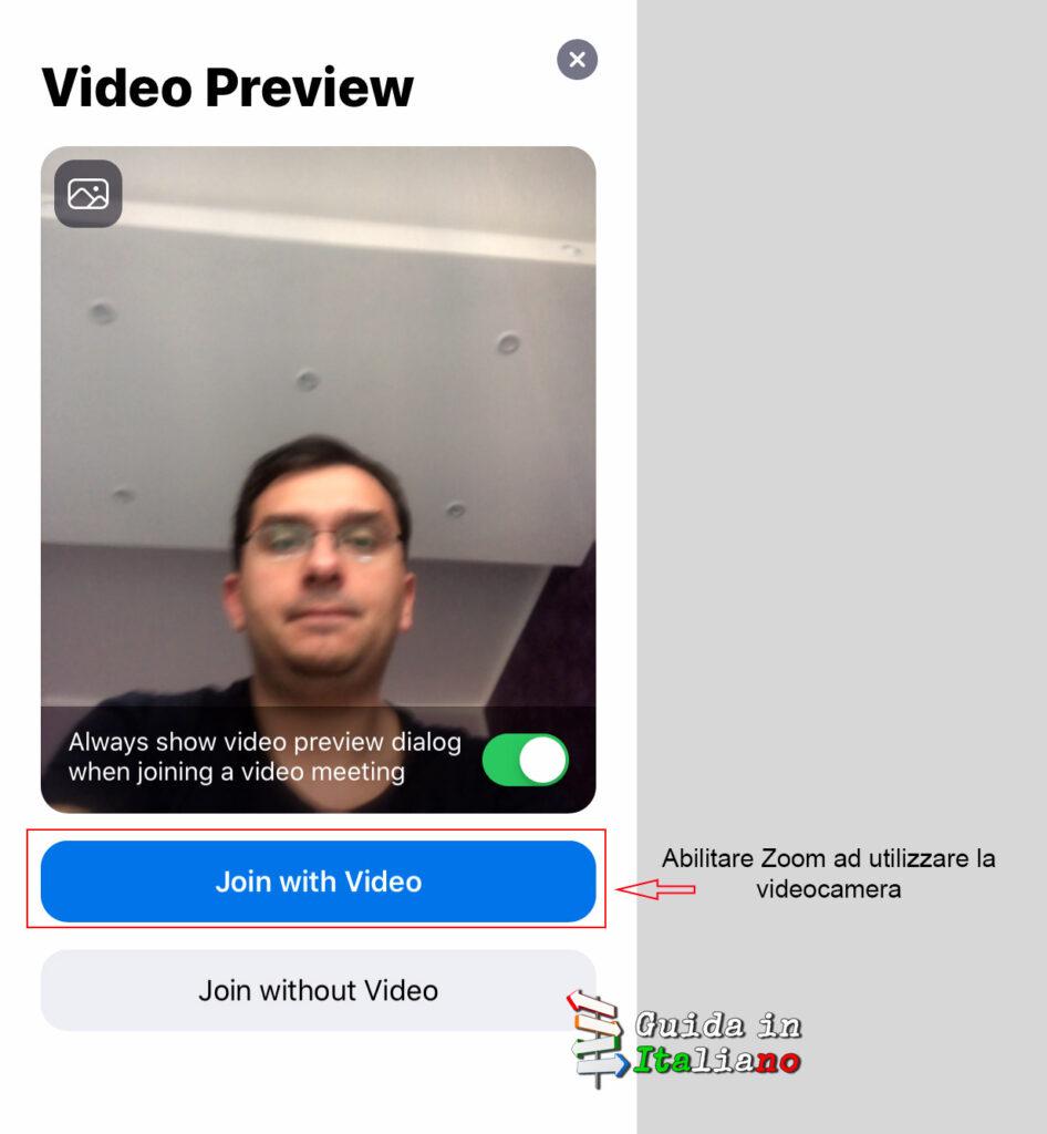 abiliare video zoom