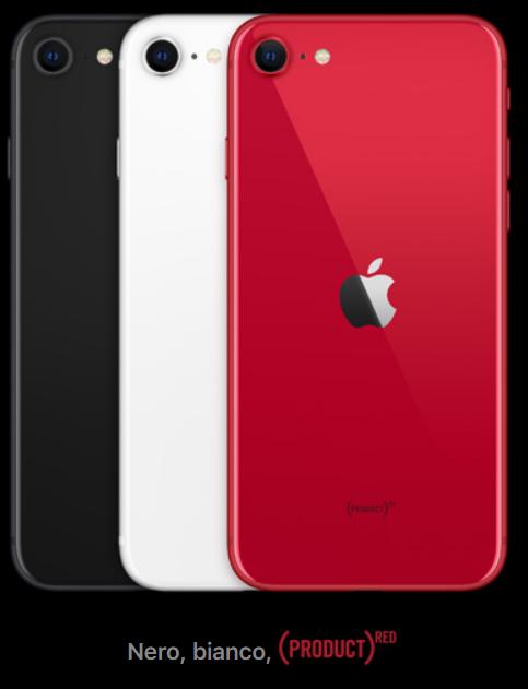 iPhone SE 2020 colorazioni
