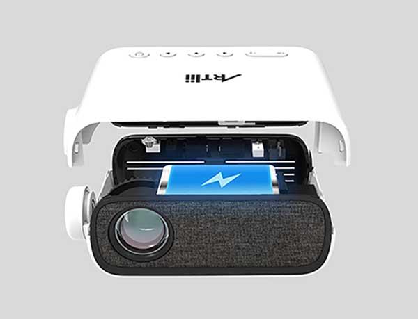 Proiettore Artlii con batteria